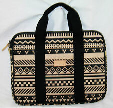 "Greene + Gray laptop sleeve bag case Tribal handles 13"" x 10"" x 1"""