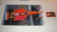 """MICHAEL SCHUMACHER SIGNED """"THE THIN RED LINE"""" BY THIERRY THOMPSON FINE ART PRINT"""