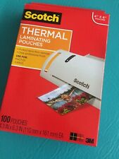 "Scotch 3M Thermal Laminating Pouches 4"" X 6"" 100 TP5900 FREE SHIPPING"