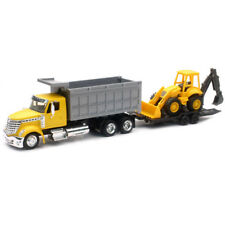 New Ray 1/43 Long Haul Trucker International Lonestar Dump Truck & Excavator YL