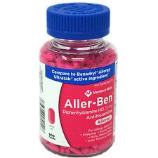 Members Mark Allergy Medicine Aller-Ben HCL 600 Tabs OZ STOCK