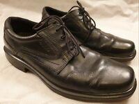 Ecco Black Leather Lace Up Formal Shoes EU Size 43 UK Size 9