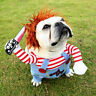 Deadly Doll Halloween Scary Dog Costumes Funny Cosplay Clothing Sets Pet Clothes