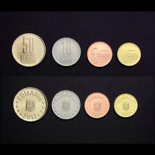 [L-1] Romania Set 4 Coins, 1 5 10 50 BANI , 2012-2013, UNC