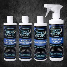 Sheen Genie All Metal Polish, Metal Sealer, & Spray Wax Detailer Care Kit