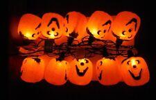 HALLOWEEN 10 Light Set with Pumpkin Reflectors New with Box