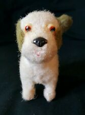 VINTAGE CLOCKWORK TOY DOG WITH WAGGING TAIL working