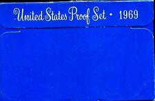 1969-S US Proof Mint Set 5 Coins Silver & CLAD 20wth0801 $2 Shipping