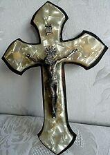 More details for vintage large brass base crucifix 20 x14 cm