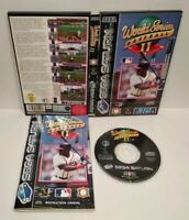 WORLD SERIES BASEBALL II SEGA SATURN - Version PAL Européenne - Bon État Complet