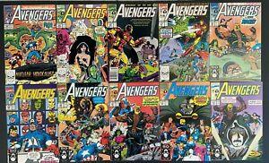Avengers #324-333 Marvel Comics 1990-91 Alpha Flight Vision She-Hulk Dr. Doom