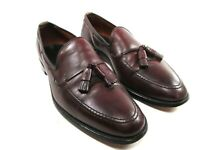 Allen Edmonds Grayson Mens Burgundy Leather Tassel Apron Toe Loafers Size US 9 D