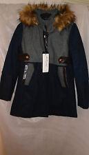Kd.Beautiful Ladies Size 10/12 Navy/Grey Winter Coat