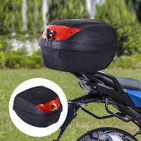 28L Motorcycle Tail box Helmet Top Case Storage Trunk Carrier Mount Rack