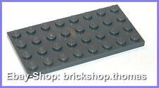 Lego Platte Grundplatte grau (4 x 8) - 3035 - Dark Bluish Gray Plate - NEU / NEW