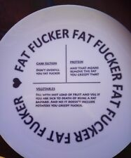 Fat  f##ker Slimming/ portion control plate Speed Food  different words