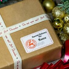 Personalised Special Delivery From Santa Christmas Present Stickers Gift Labels