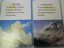Senderos Tarjetas de vocabularion en contexto Spanish 3rd Grade Level 3 Cards