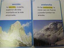 Senderos Tarjetas de vocabularion en contexto Spanish 3rd Grade Level 3 Cards