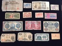 Lot Of 15 OLD Foreign / World Banknotes Currency   China, Germany, Bulgaria