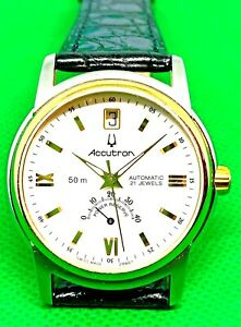 2010s Accutron Automatic 2892-a2 Swiss Made Wrist Watch Power Reserve Date on12