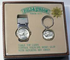 Field & Stream F01850848000 Money Clip Watch and Key Ring Fob Gift Box Lot of 10