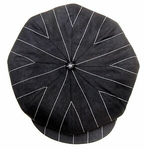 CASQUETTE VINTAGE RETRO SPORT TITANIC noir Rayure * IRLANDAISE MARSEILLAISE CAP