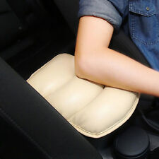 Car SUV Beige PU Center Box Armrest Console Soft Pad Cushion Cover Durable Wear