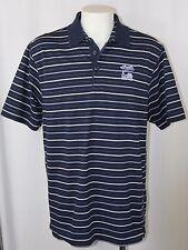 Ashworth US OPEN 2008 TORREY PINES Polo Shirt Blue Striped Embroider Logo Men XL
