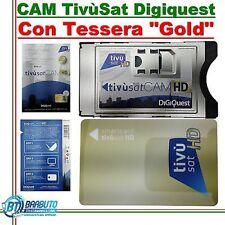 CAM  TivùSat HD A DOPPIA SIM+SCHEDA TESSERA GOLD TivùSat CERTIFICATA DIGIQUEST