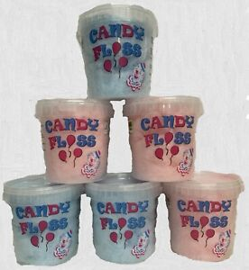 candy floss x 6 Special Offer Price 1 Litre Pink & Blue. Candy Floss