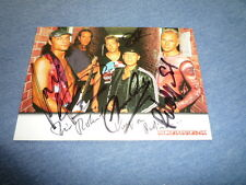 SCORPIONS signed Autogramm  In Person 10x15 cm 2003 er Besetzung RIECKERMANN