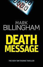 Death Message - Tom Thorne Thriller by Mark Billingham (large paperback)