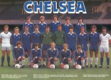 CHELSEA FOOTBALL TEAM PHOTO 1980-81 SEASON