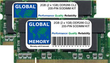 2 Go (2 x 1 Go) DDR 266MHZ PC2100 200 BROCHES SODIMM Aluminium PowerBook G4 RAM