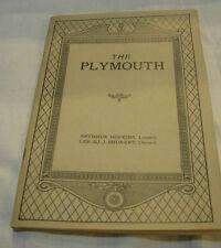 "PROGRAM ""1926"" PLYMOUTH THEATRE IOLANTHE GILBERT /SULLIVAN"