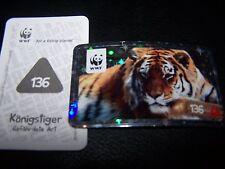 REWE WWF Tierabenteuer Tier Abenteuer Glitzer Sticker 136 Königstiger