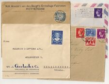 4 COVERS  PAYS BAS NETHERLANDS TO SWEDEN. L 499