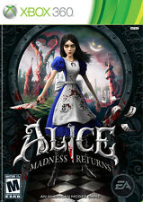 Alice: Madness Returns [Xbox 360, NTSC, Video Game, Wonderland, Mad Hatter] NEW