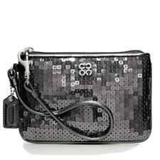 Coach Wristlet/ Clutch Purse Grey  Sequin