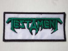 TESTAMENT LOGO THRASH METAL EMBROIDERED PATCH