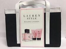 LAUREN STYLE by Ralph Lauren 4 PCS GIFT SET 4.2 oz EDP+ 1.7 oz B/L + 1.7 oz S/G