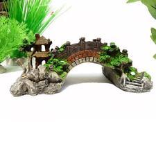 New Simulation Resin Rockery Fish Tank Ornament Aquarium Decor Antique bridge UP