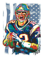 Tom Brady, the New England Patriots, Deflated Football, 8.5x11 PRINT w/COA 2