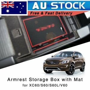Center Console Armrest Storage box Tray for 2009-2017 Volvo XC60 S60 S60L V60