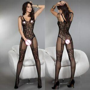 Catsuit sexy ouvert 🔥hot Overall Dessous Netz Schritt offen 🔥 aus DE 🔥