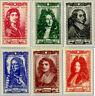EBS France 1944 Celebrities of the 17th Century YT 612-617 MNH** cv $17.00
