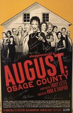 Full Cast Signed AUGUST OSAGE COUNTY Broadway Poster Windowcard