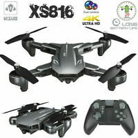 VISUO XS816 GPS WIFI FPV RC Drone Dual lens 4K Camera Optical Flow Quadcopter