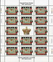 Canada Stamp sheet#1722 - St. Edward's Crown/2¢ Imperial Penny Postage/Sir Wi...